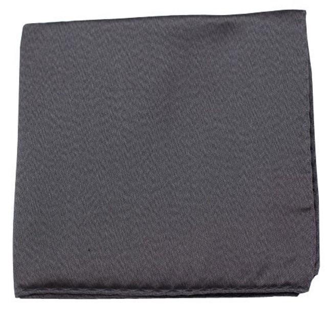 Melange Twist Solid Charcoal Pocket Square