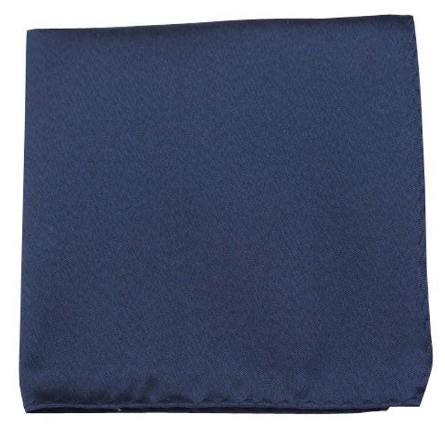 Melange Twist Solid Navy Pocket Square