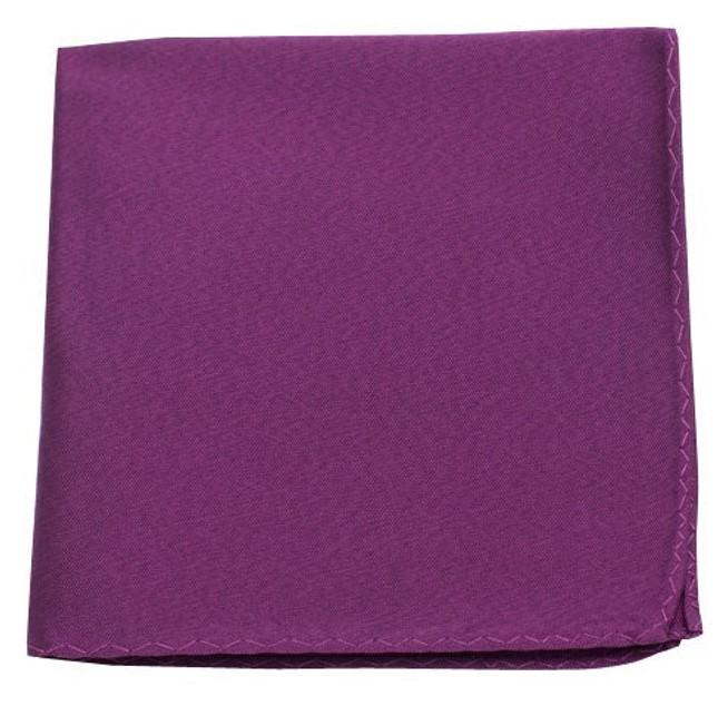Melange Twist Solid Azalea Pocket Square
