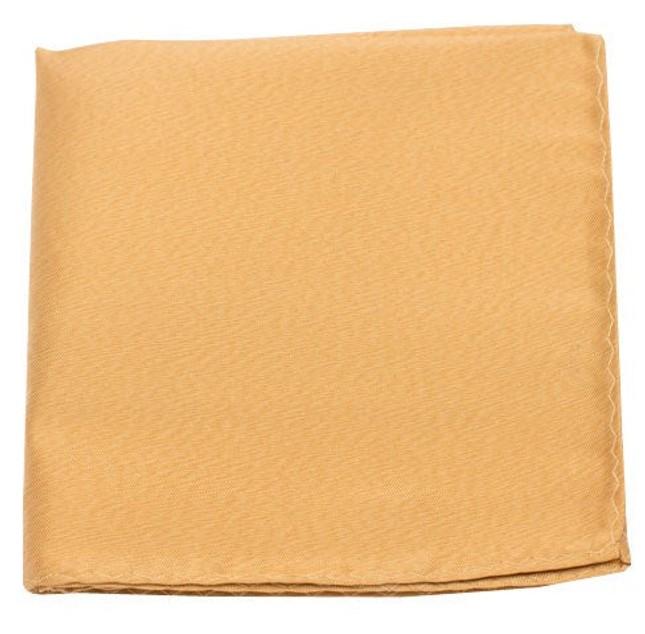 Melange Twist Solid Mustard Pocket Square