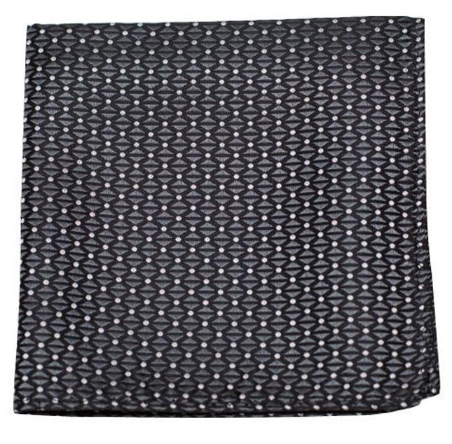 Mingle Dot Charcoal Pocket Square