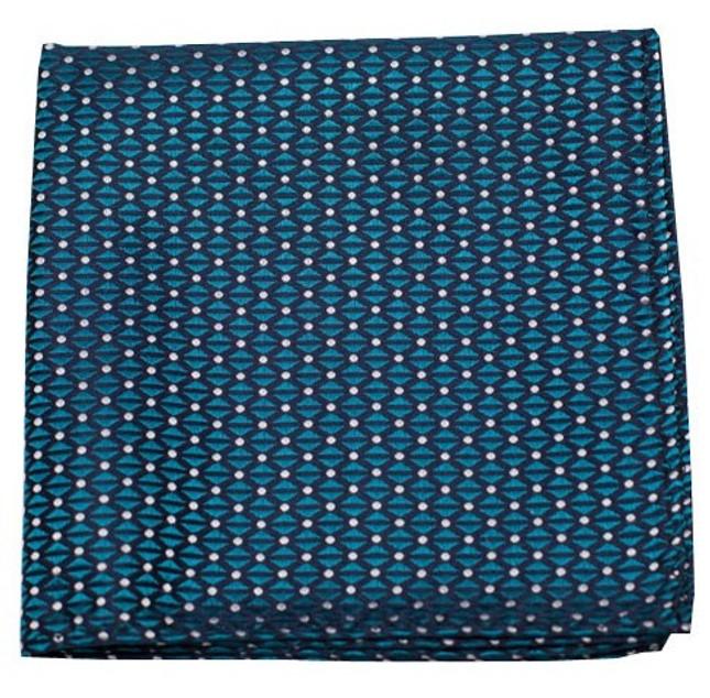 Mingle Dot Teal Pocket Square