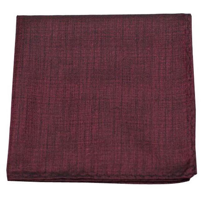 Debonair Solid Deep Burgundy Pocket Square
