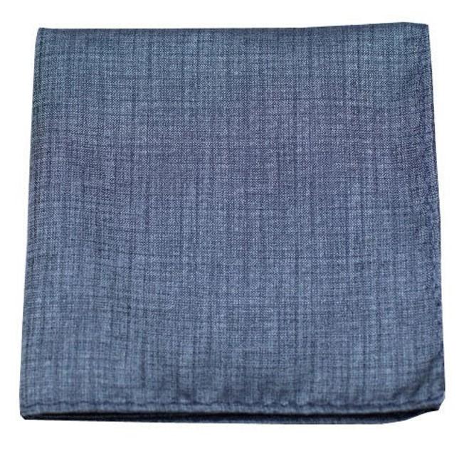 Debonair Solid Slate Blue Pocket Square