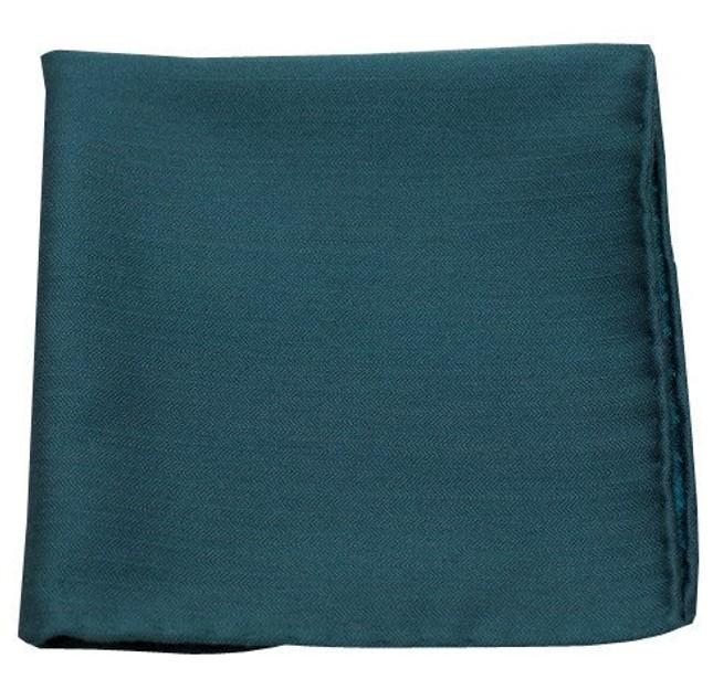 Astute Solid Green Teal Pocket Square