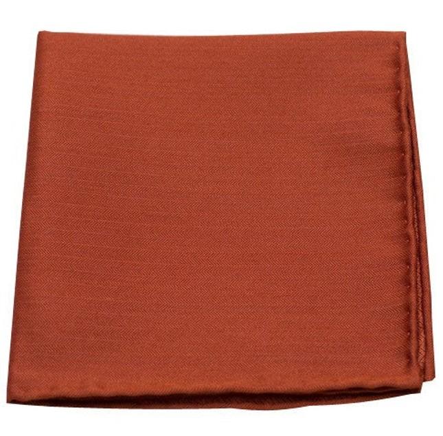 Astute Solid Orange Pocket Square