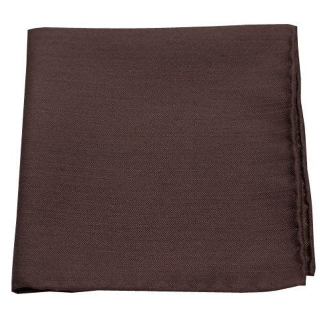 Astute Solid Chocolate Pocket Square