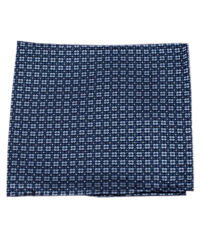 Aerial Geo Light Blue Pocket Square
