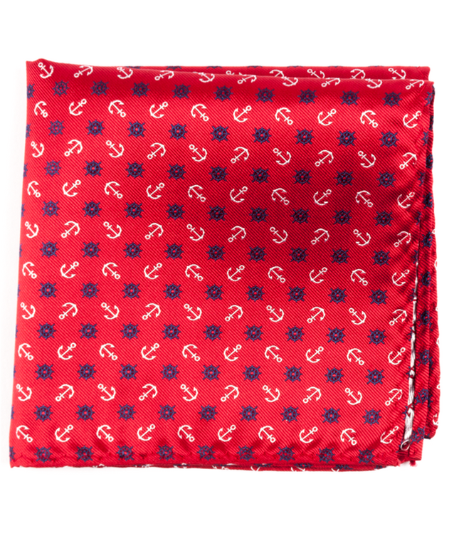 Offshore Red Pocket Square