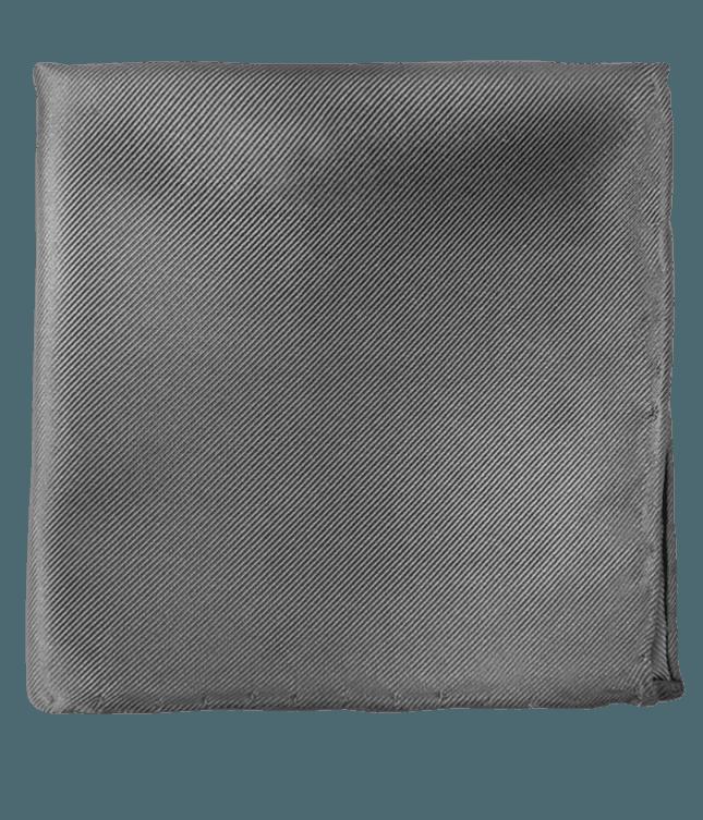 Solid Twill Titanium Pocket Square