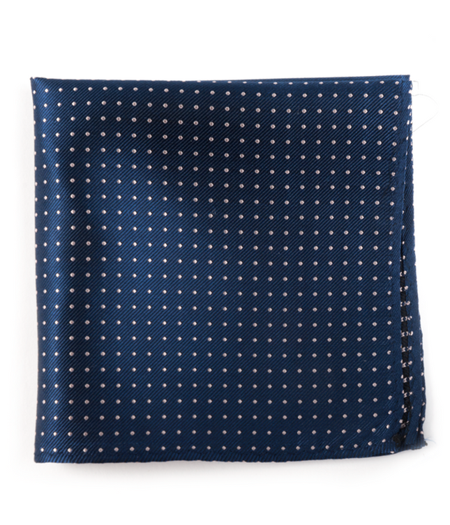 Mini Dots Classic Navy Pocket Square