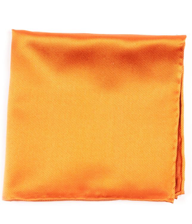 Solid Twill Orange Pocket Square