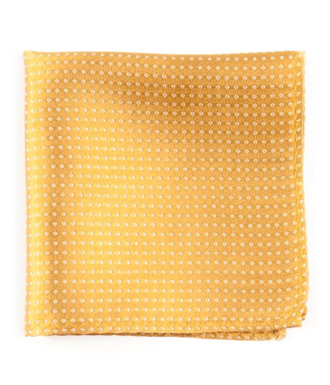 Pindot Gold Pocket Square