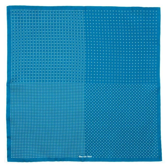 Geo Zone Serene Blue Pocket Square