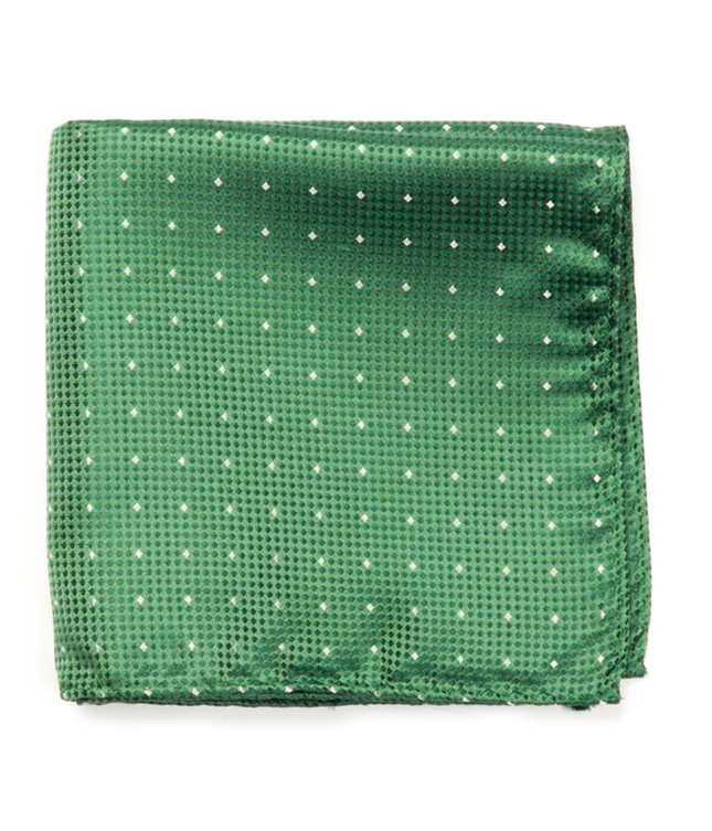 Showtime Geo Green Pocket Square