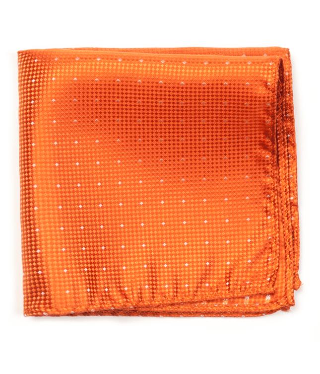 Showtime Geo Tangerine Pocket Square