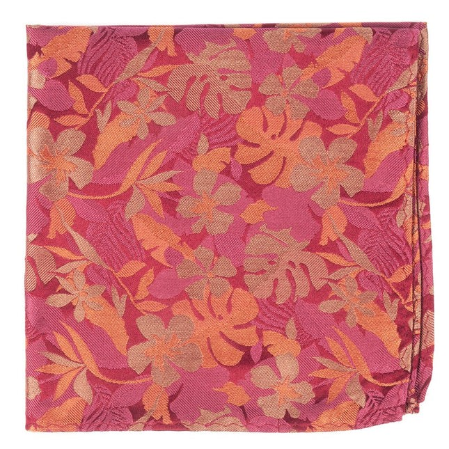 Island Floral Dusty Rose Pocket Square