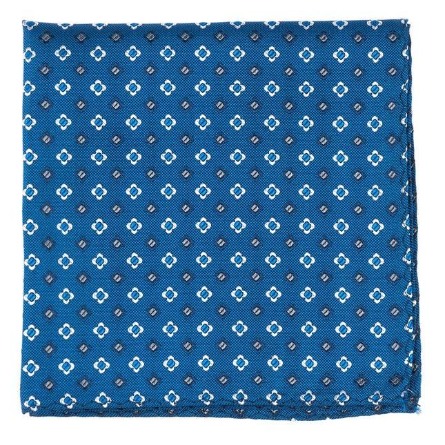 Steady Bloom Serene Blue Pocket Square