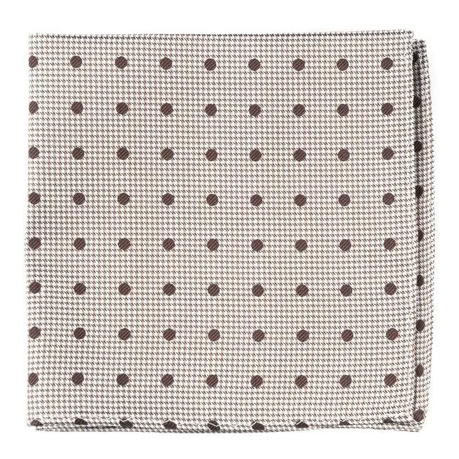 Surface Dots Brown Pocket Square