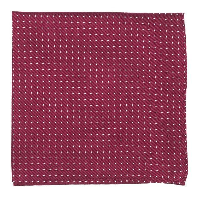 Mini Dots Burgundy Pocket Square