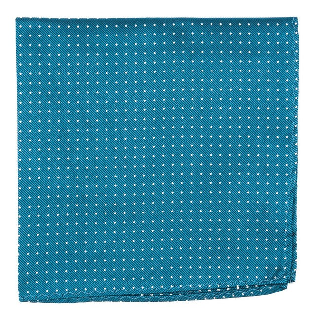 Mini Dots Teal Pocket Square