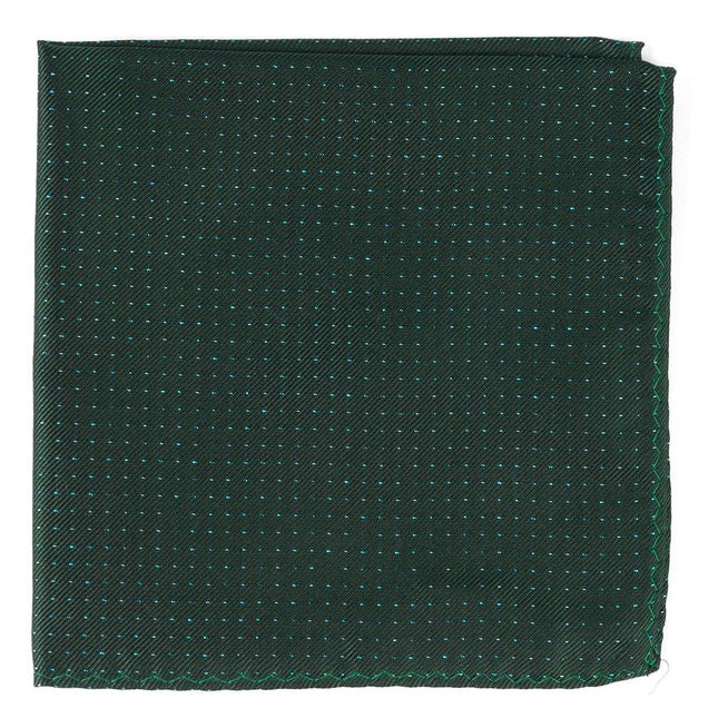 Flicker Hunter Green Pocket Square