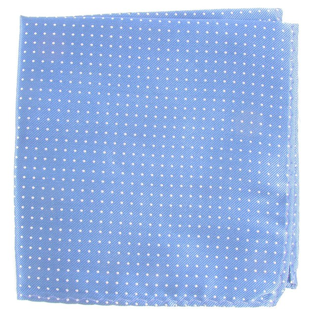 Mini Dots Light Blue Pocket Square