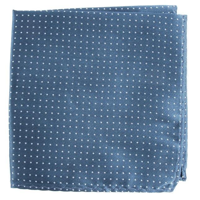 Mini Dots Whale Blue Pocket Square