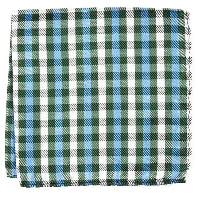 Polo Plaid Green Pocket Square