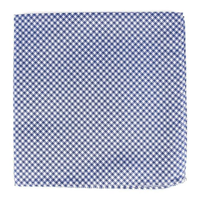 Bahama Checks Classic Blue Pocket Square