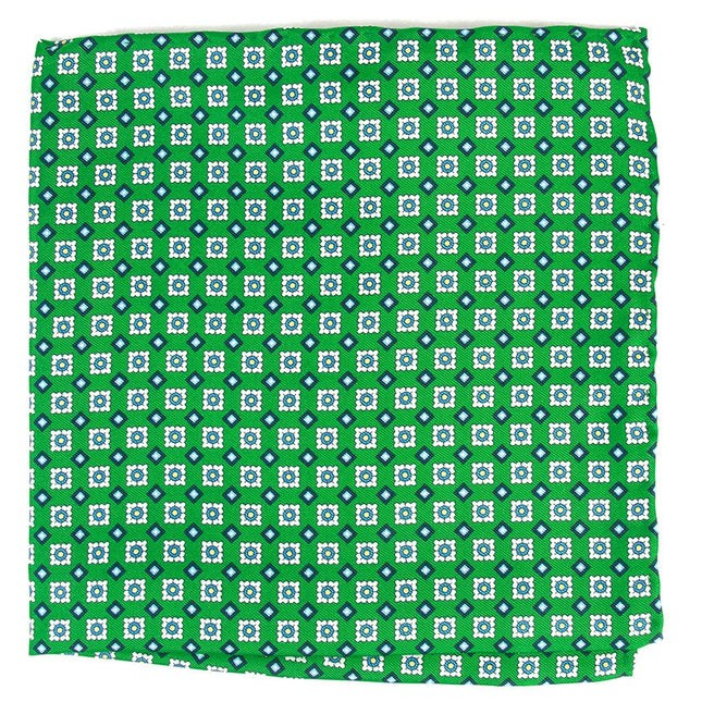 South Padre Geos Apple Green Pocket Square