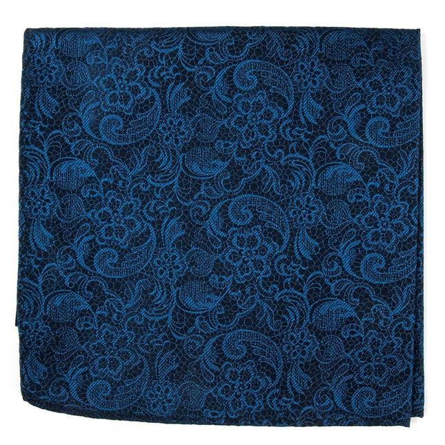 Ceremony Paisley Navy Pocket Square