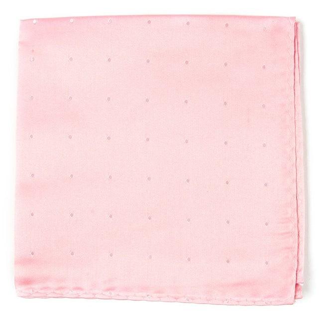 Satin Dot Baby Pink Pocket Square