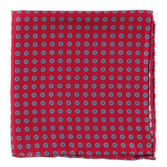 Major Star Apple Red Pocket Square