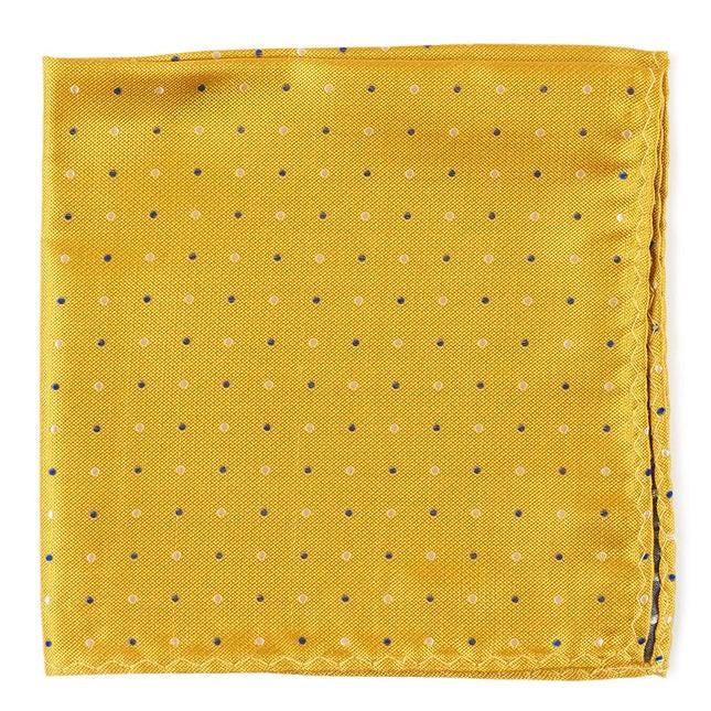 Jpl Dots Yellow Pocket Square
