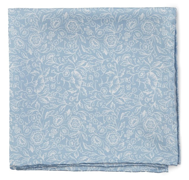 Bracken Blossom Sky Blue Pocket Square