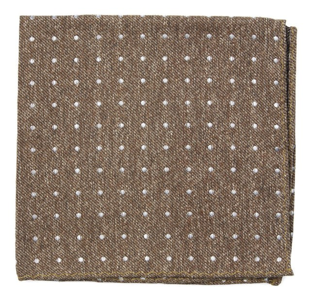 Knotted Dots Brown Pocket Square