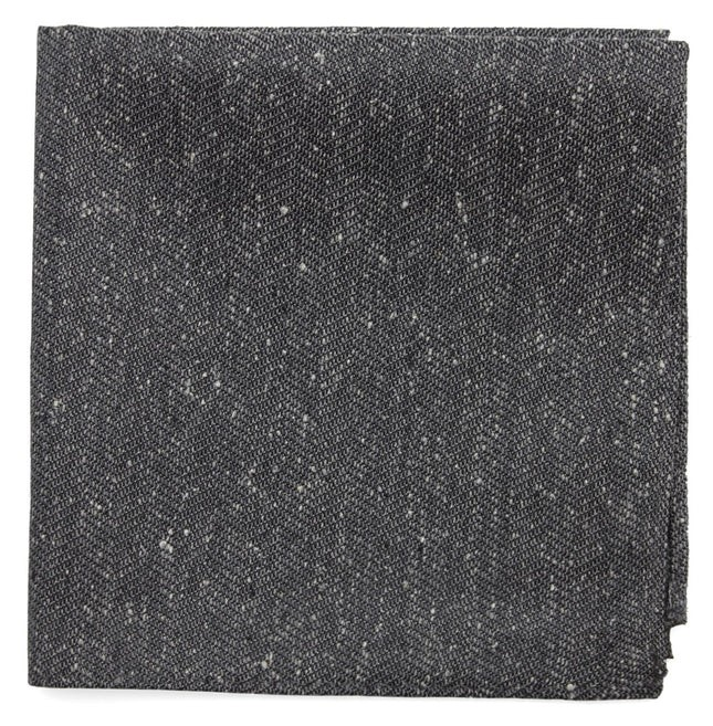 Threaded Zig-Zag Grey Pocket Square