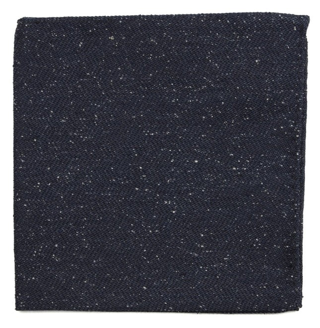 Threaded Zig-Zag Navy Pocket Square