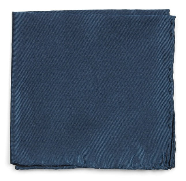 Solid Twill Teal Pocket Square