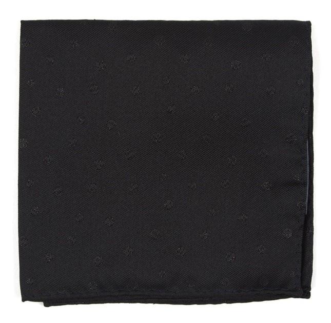 Circle Soiree Black Pocket Square