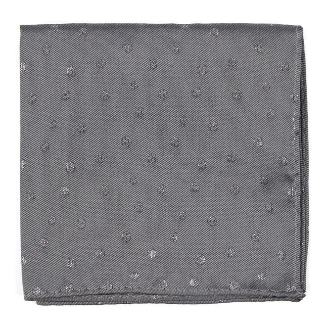 Circle Soiree Grey Pocket Square