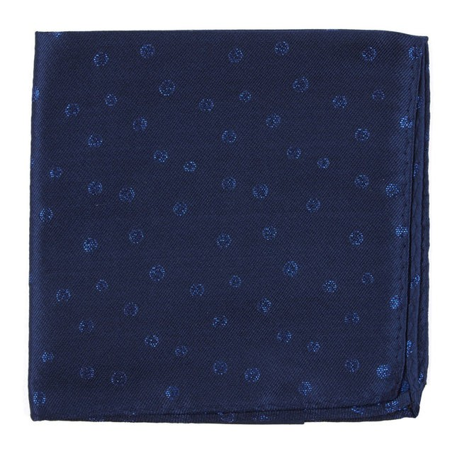 Circle Soiree Navy Pocket Square