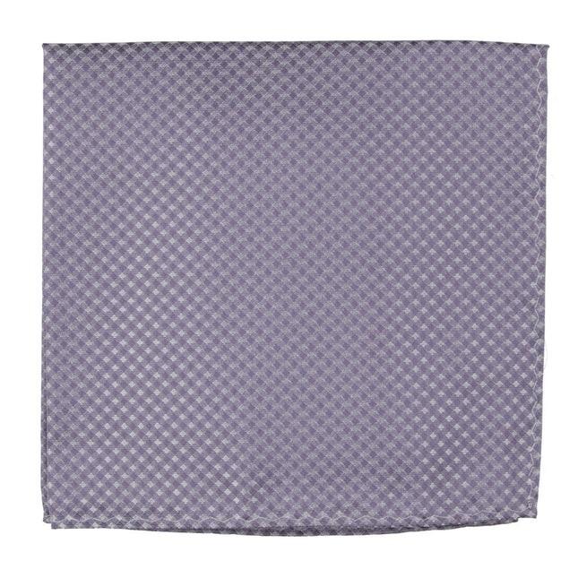 Be Married Checks Lavender Pocket Square
