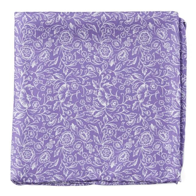 Bracken Blossom Wisteria Pocket Square