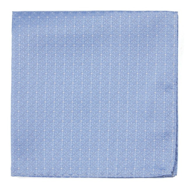 Medallion Lane Light Blue Pocket Square