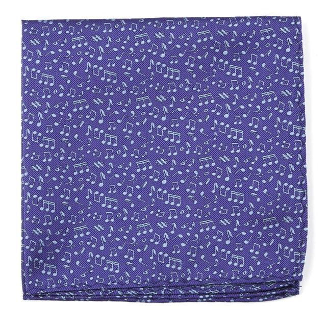 Music Notes Purple Pocket Square