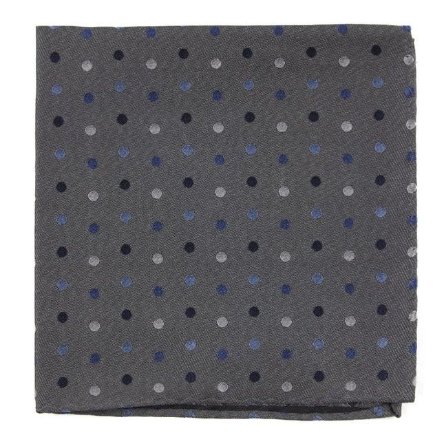 Spree Dots Grey Pocket Square