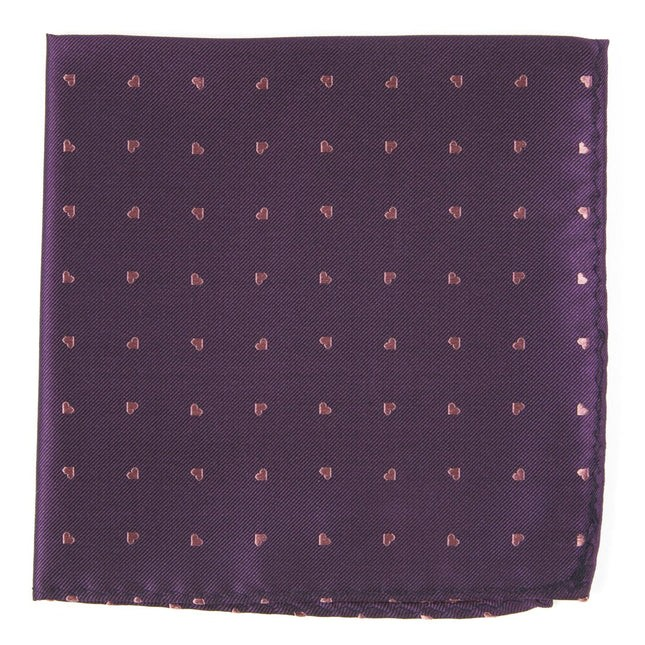 Heart To Heart Plum Pocket Square