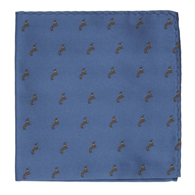 Dog Days Slate Blue Pocket Square